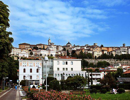Bergamo, Italy, High City, Upper City, Landscape, Sky