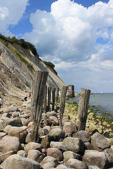Rügen, White Cliffs, Sky, Baltic Sea, Rock, Nature