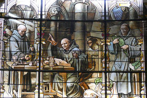 Stained Glass, Art, Window, Bénédictine