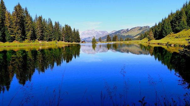 Lake, Alpine, Nature, Landscape, Mountains, Sky