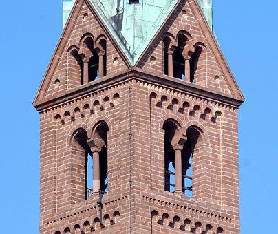 Church, Tower, Romanesque, Architecture, Dom