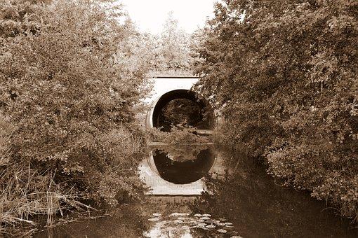 Bridge, River, Architecture, Historical, Reflection