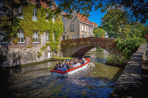 Belgium, Brugge, Canal, Bridge, River, Architecture