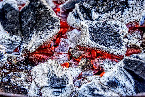 Charcoal, Embers, Glow, Burn, Barbecue, Fire, Hot, Nest
