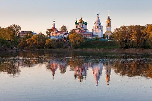 Kolomna, Russia, Temple, Morning, Dawn, Church, Belfry