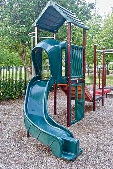 Slide, Playground, Kids, Equipment, Climbing, Frame