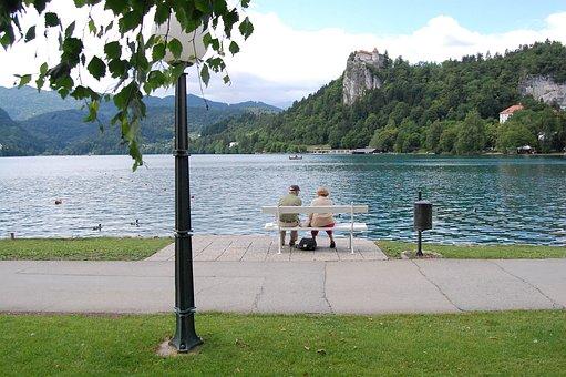 Couple, Lake, Love, Water, Nature, Woman, Romance