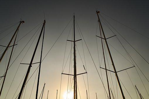 Sailboat, Direct, Sunset, Romantic, Solar, Marine, Boat
