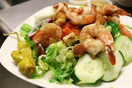 Food, Dish, Restaurant, Salad, Shrimp, Delicious, Eat