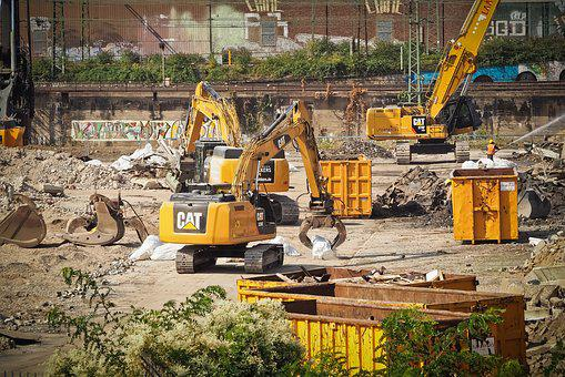 Site, Demolition Work, Demolition, Excavators
