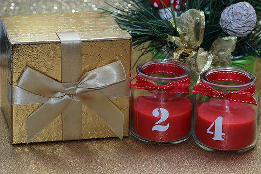 Christmas, Twenty Four, Gift, Deco, Candle, Light, Mood