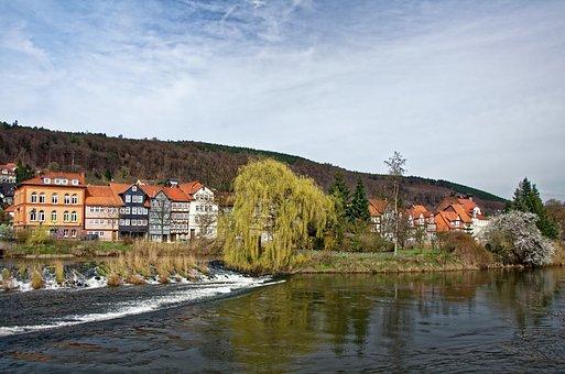 Germany, Hannoversch-münden, Historic Center, Truss