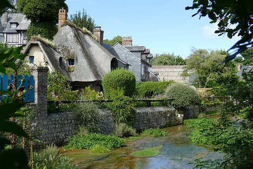 Veules-les-roses, France, Village, Picturesque, Houses