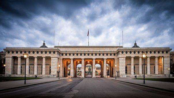 Castle Gate, Building, Vienna, Imperial, Historically