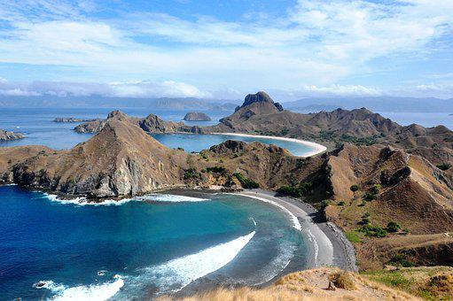 Labuanbajo, Padarisland, Background, Blue, Sea, Nature