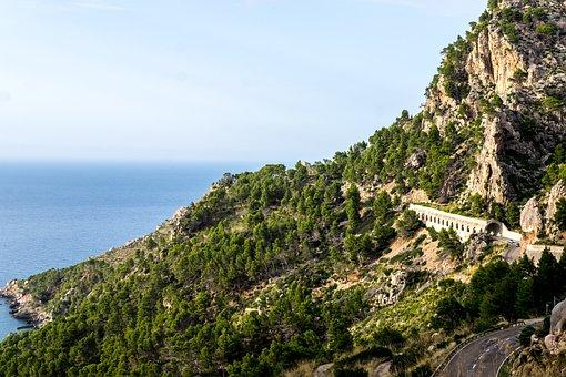 Majorca, Roche, Nature, Landscape, Tree, Sea, Spain