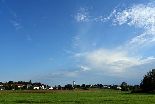 Village, Rural, Bavaria, Landscape, Nature, Summer