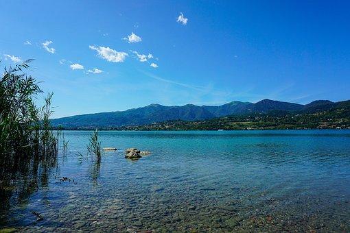 Pusiano, The Lake Of Pusiano, Como, Lombardy, Italy