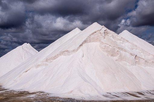 Salts, Clouds, Mountains, White, Majorca