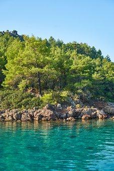 Nature, Marine, Landscape, Mountain, Black, Travel