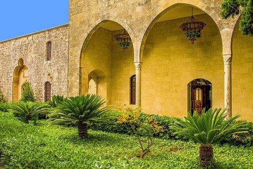 Palace, Oriental, Arcades, Arches, Architecture