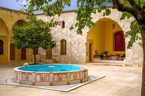 Architecture, Oriental, Old, Courtyard, Patio, Pool