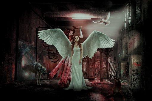 Composing, Fantasy, Mystical, Photomontage, Weird