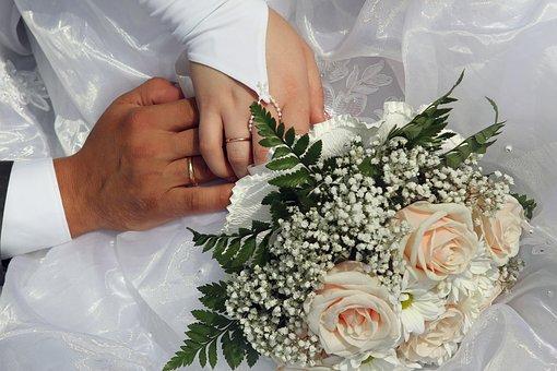 Wedding, Rings, Hands, Just Married, The Groom, Bride