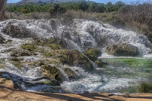 Gaps, Waterfalls, Nature, River, Green, Ruidera, Spain