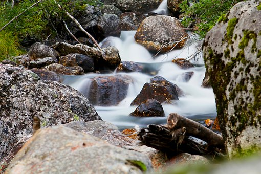 River, Stones, Water, Watercourse, Bach, Norway