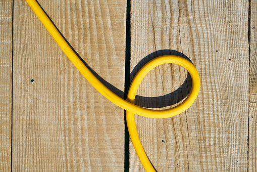 Background, Yellow, Rope, Pipe, Plastic, Wood