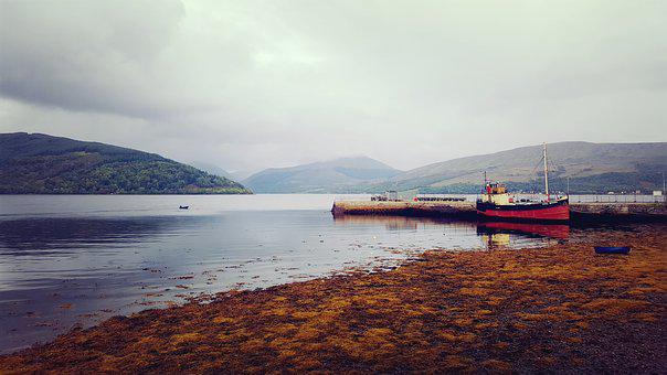 Sea, Water, Strait, Ship, Boat, Autumn, Maritime, Boats