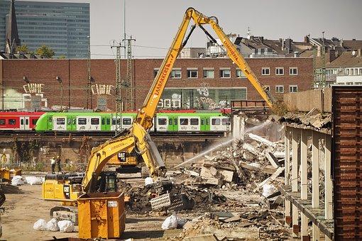 Site, Demolition Work, Demolition, Excavators