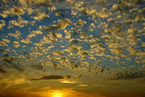 Sky, Clouds, Altocumulus, Cloud, Kłębiaste