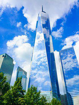 Freedom Tower, Freedom, Tribute, 911, Sky, Clouds