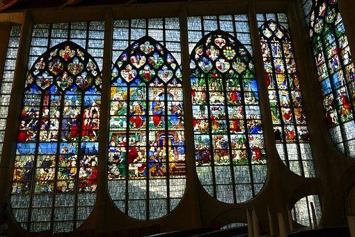 Stained Glass, Window, église Saint-vincent