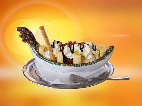 Eat, Food, Ice, Ice Cream, Ice Cream Sundae, Sweet