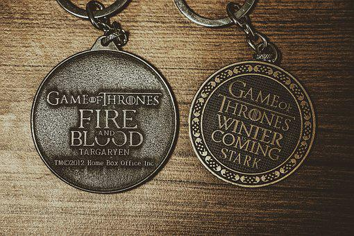 Keychain, Game Of Thrones, Table, On The Table