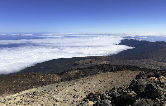 Tenerife, Canary Islands, Volcano, Crater, Sky