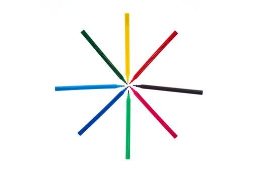 Pen, School, Course, Colors, Education, The Draw