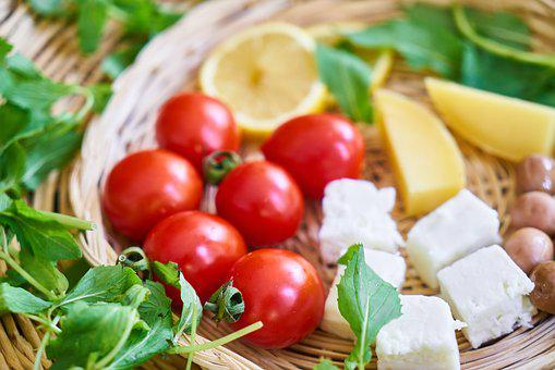 Tomato, Breakfast, Mediterranean, Cheese, Olives, Food