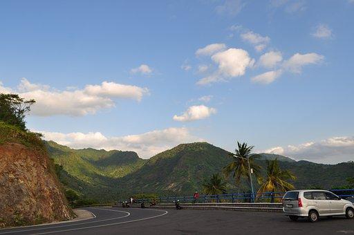Road, Skyline, Landscape, Travel, Asian, Travelling