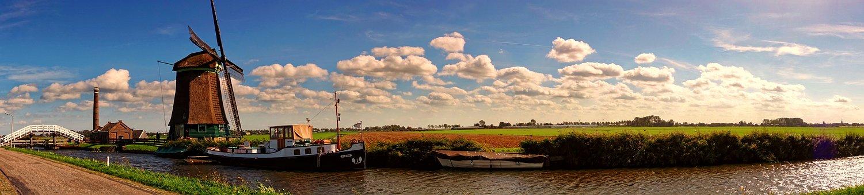 Panorama, Wind Mill, Landscape, Heaven, Water, Summer