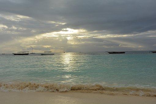 Zanzibar, Africa, Sunset, Tanzania