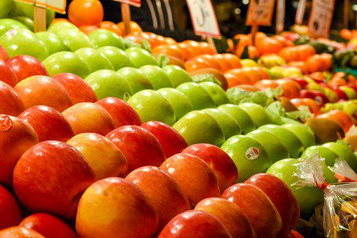 Apples, Market, Seattle, Pike Place, Colorful, Green