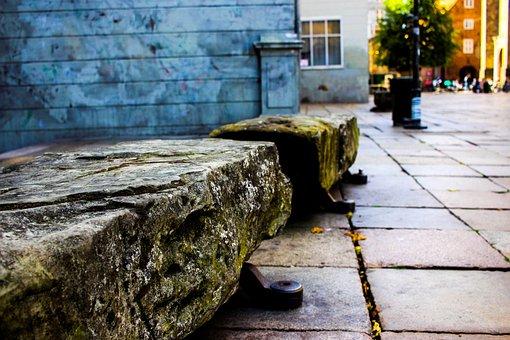 Bank, Stone, City, Pedestrian Zone, Historic Center