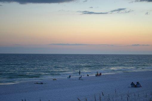 Sunset, Beach, Water, Sea, Summer, Sky, Nature, Coast