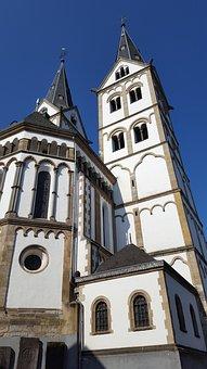 Boppard, Rhine, Church, Sky, Middle Rhine, Sachsen