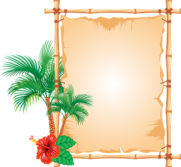 Bamboo, Border, Caribbean, Flower, Frame, Hawaii