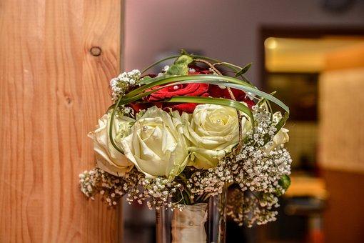 Wedding, Bridal Bouquet, Bouquet, Romance, White, Rose
